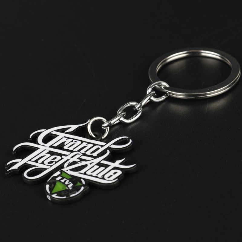 2017 Nieuwe Grand Theft Auto 5 Sleutelhanger Hot PS4 Gta 5 Game Sleutelhanger Emaille Metalen Sleutelhanger Chaveiros Llaveros Key ring Houder-50
