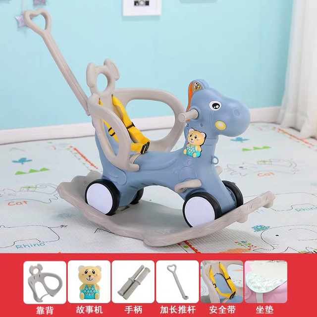 Baby Rocking Chair Baby Rocking Horse Wooden Multifunctional Musical Ride On Toys 3
