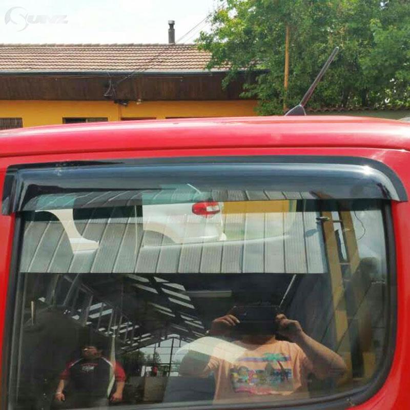 Déflecteur de Vent de voiture noir déflecteur de fenêtre de voiture pare-pluie pour Toyota Hilux Vigo 2005-2014 - 5