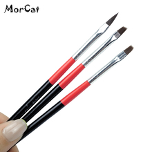 MorCat Nail Brushes Painting Drawing Brush DIY Nail Art Design Nail Brush For UV Gel Handle Builder Flower Manicure Nail Tool