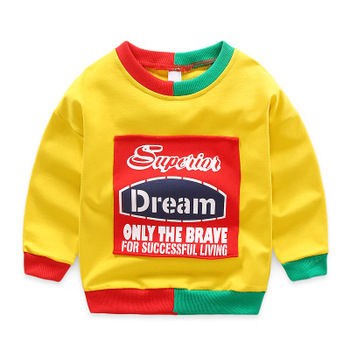 Baby children sweatshirts pullovers o-neck long sleeve t-shirts boys clothes casual girls tops basic underwear