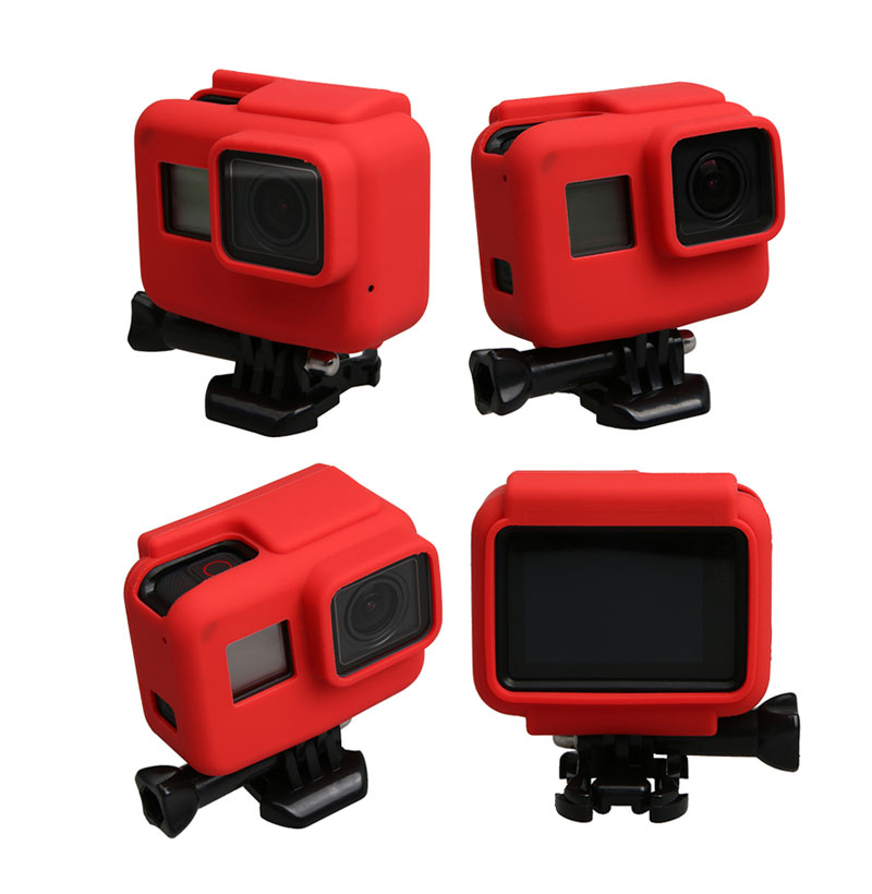 Colorful Soft Silicone Rubber Frame Protective Case for GoPro Hero 5 Black Protective Cover for Go Pro 5 Camera Accessories (5)