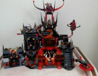 Nexoe Knights Volcano Lair Castle Model Building Kits Compatible with Lepins City 3D Blocks Educational Chirstmas Toys 14019 nexoe knights volcano lair castle model building kits compatible with lego city 3d blocks educational toys