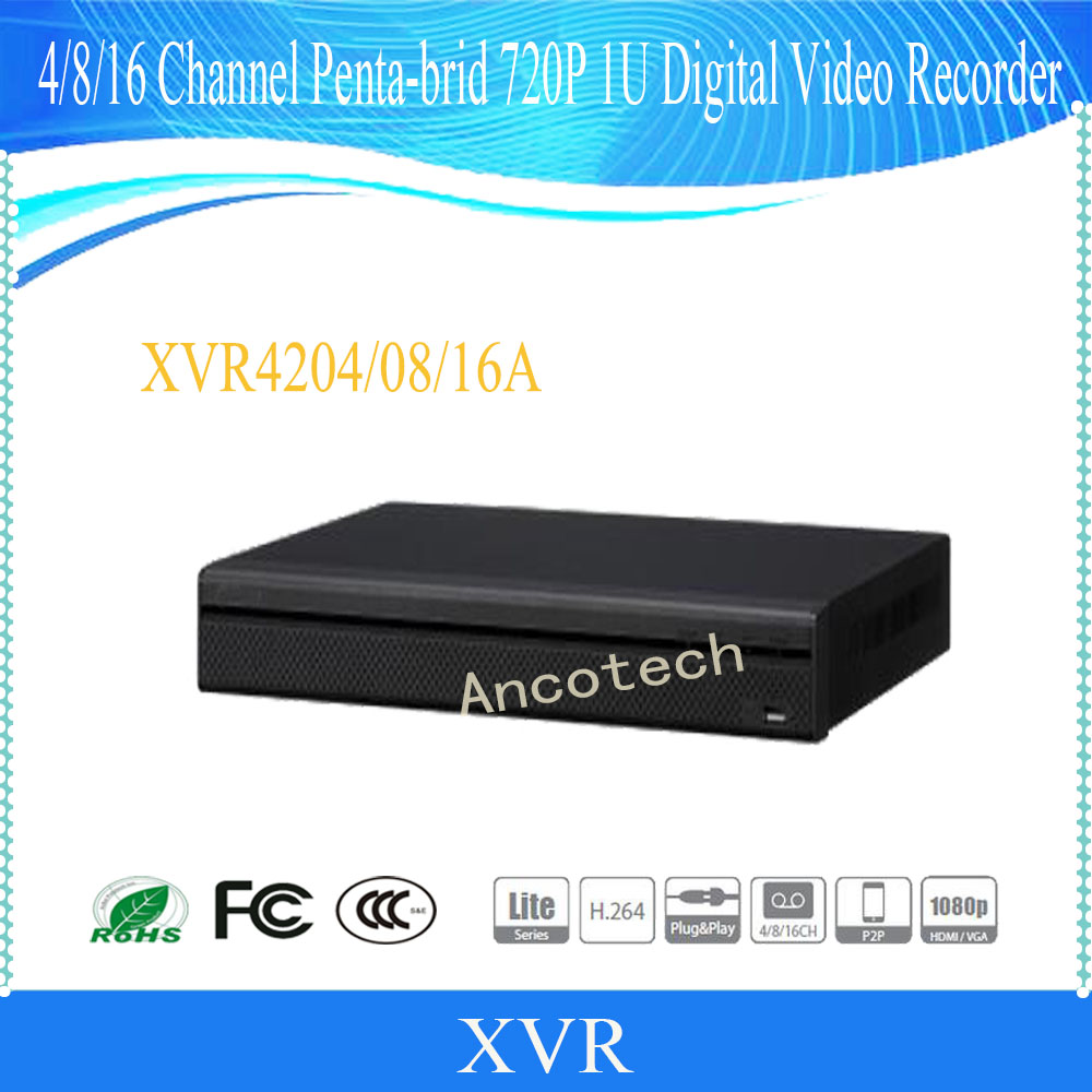 DAHUA NEW Product 4/8/16 Channel Penta-brid 720P 1U Digital Video Recorder Without Logo XVR4204A/XVR4208A/XVR4216A dahua penta brid xvr xvr4104hs support