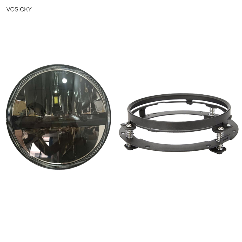 7 inch Led Headlights Motorcycle with 7 Round Mounting Bracket ring support Daymaker for harley 7 daymaker hid led headlight mounting ring bracket for harley touring 1994 2013
