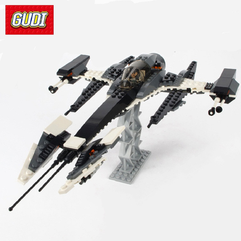 GUDI Building Blocks Fierce Twilight Seris Space Aircraft Fighter Warship Car Tank Figures Assembled Bricks Toys For Children bandai million generations of genuine space warship garunto 2199 space re burst fighter no 17