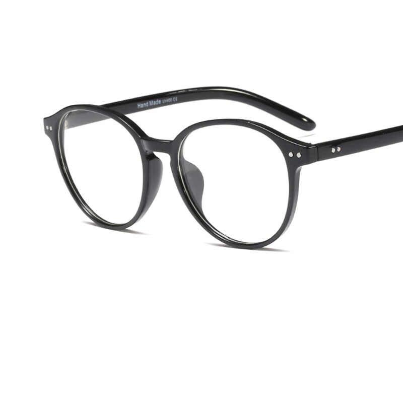Круглые прозрачные женские очки в стиле ретро, прозрачные компьютерные очки с имитацией оправы для очков, Женские оправы для очков, 2019