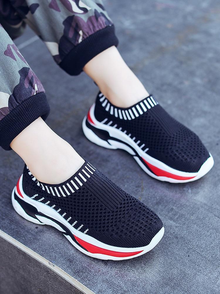 Children's Sports Shoes 2019 Summer New Boys Hollow Big Children's Shoes Mesh Breathable Single Net Shoes