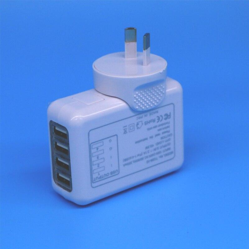 High quality 2.1A AU Plug 4 Port USB Charger Universal USB Ws