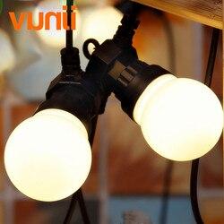 ¡Nuevo! Al aire libre IP65 jardín/Patio/boda Vintage festón bola cadena luz, G50 globo cadena luces lechoso baile cadena Luz