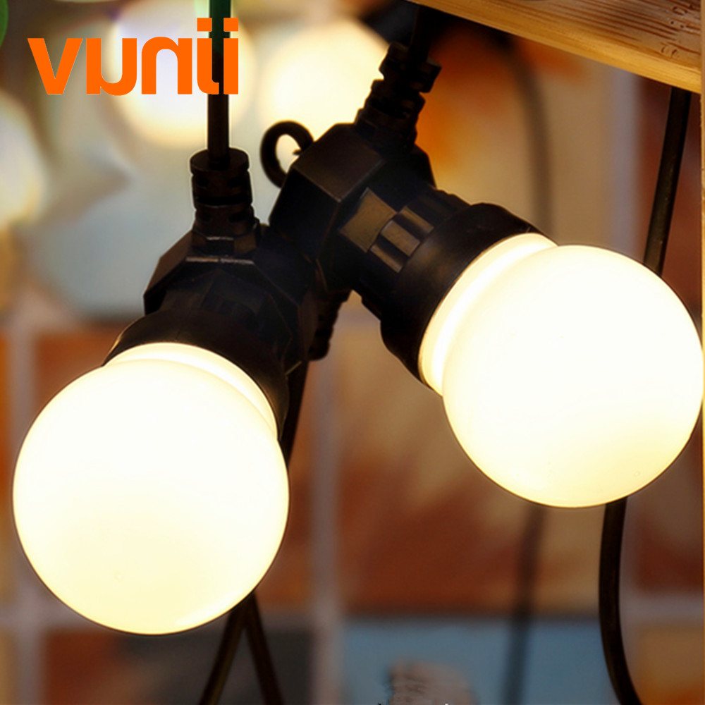 Ny! Outdoor IP65 Have / Patio / Bryllup Vintage Festoon Ball String Light, G50 Globe String Lights Milky Dancing String Light