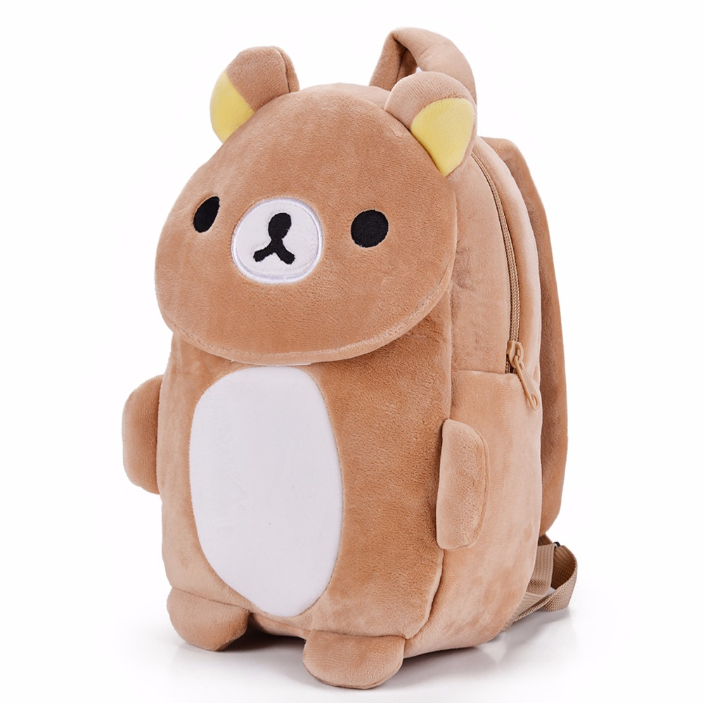 Cartoon-Childrens-Backpacks-Kids-Zoo-Animal-Rilakkuma-Plush-Lovely-Backpack-Baby-Plush-Children-Bag-for-Kindergarten3-6Year-Old-2