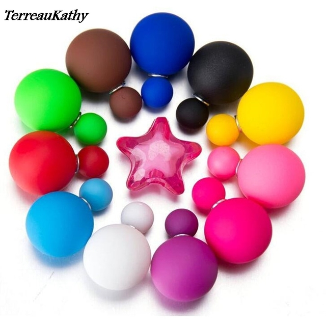 Summer Style Hot Selling Big Size Silicone Simulated Pearl Earrings