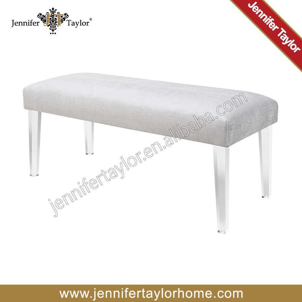 American classic modern fabric florida acrylic leg bench foot stool ottoman 5328 815 on aliexpress com alibaba group