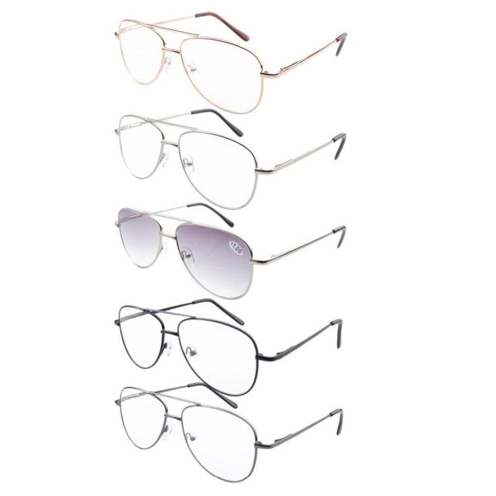 3296bfe6c R1502 5-حزمة مزيج إطار معدني الربيع المفصلي نظارات للقراءة تشمل القراءة  النظارات الشمسية + 1.0/1.25/1.50/ 1.75/2.0/2.25/2.5/2.75/3.0