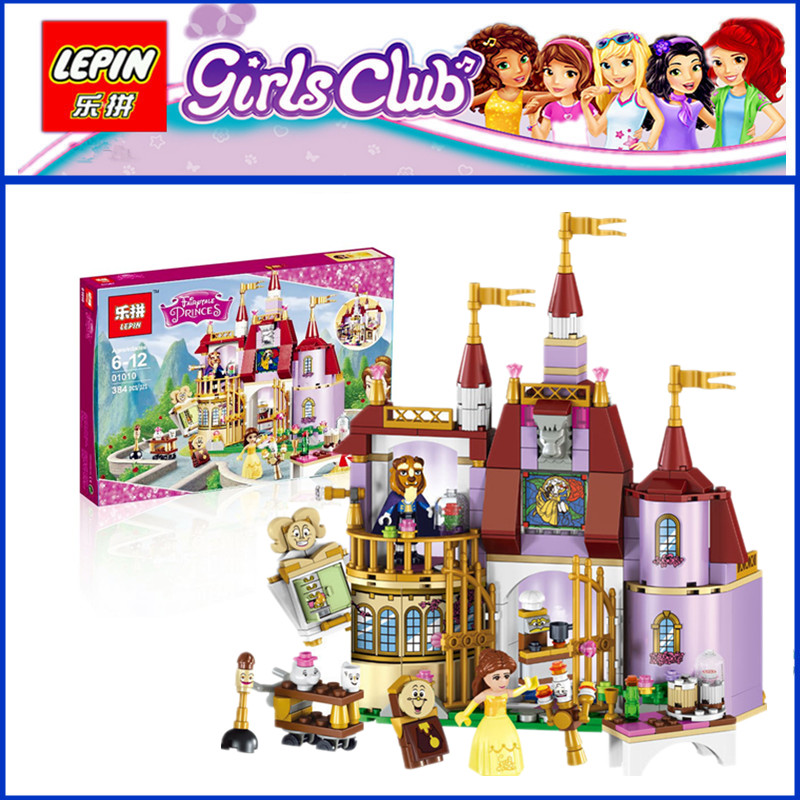 IN STOCK Lepin 01010 384pcs The Princess Bell`s Enchanted Castle Beauty and The Beast Educational Building Blocks Bricks Girl`s judith dean alladin and the enchanted lamp