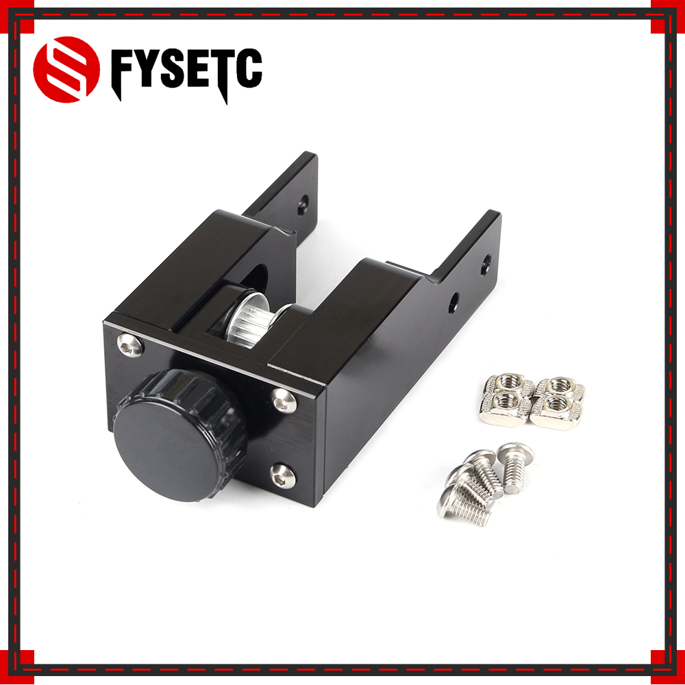 Black 2040 Profile Y-axis Synchronous Belt Stretch CR10 Straighten Tensioner For <font><b>Creality</b></font> CR-10 <font><b>CR10S</b></font> 3D Printer Parts image