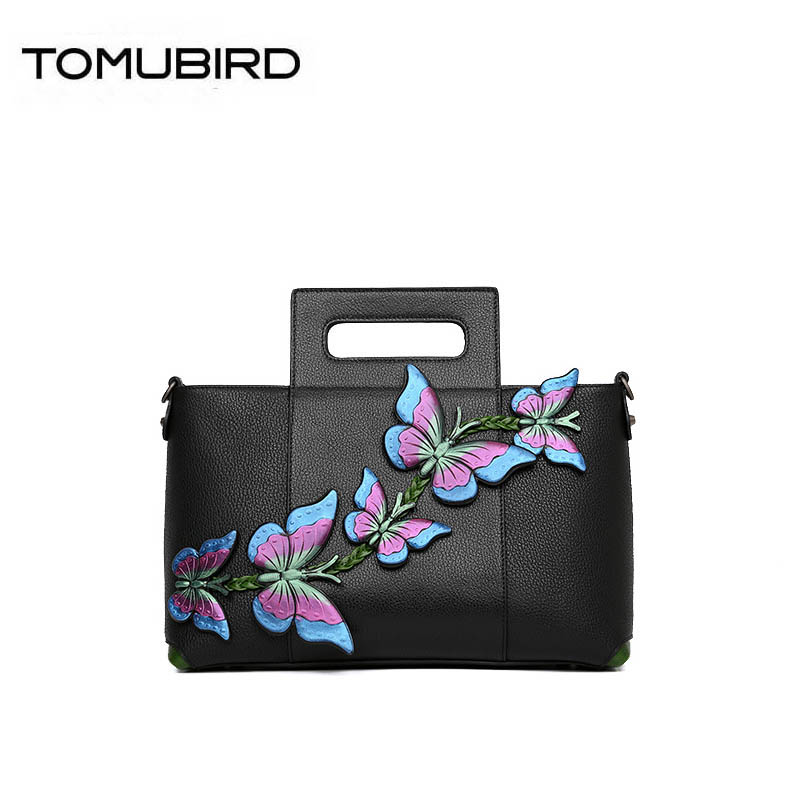 TOMUBIRD 2019 New women genuine leather bag Superior cowhide famous brand women bag fashion butterfly tote handbags shoulder bagTOMUBIRD 2019 New women genuine leather bag Superior cowhide famous brand women bag fashion butterfly tote handbags shoulder bag