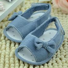 New Arrival Baby Girls Bow Princess Summer Soft Anti-slip Crib Shoes 0-18M