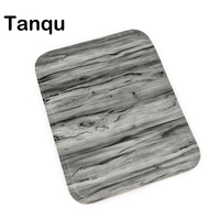 TANQU New Wood Grain Pattern PU Leather Flap Cover Lid Clamshell With Magnetic Lock Snap Fastener