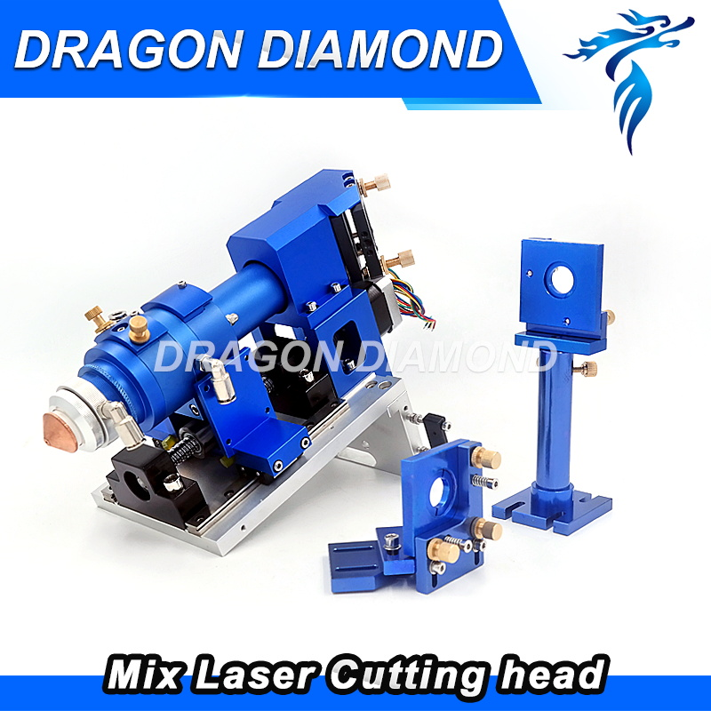 Metal Non-metal Mixture Cutting laser head 500W Metal cut Head for CO2 Laser Machine Dia 25.4mm FL63.5 101.6 mirror mount 30mm 500w co2 laser cutting metal machine head and non metal mixed cut head motor and driver for laser cutting machine laser tools