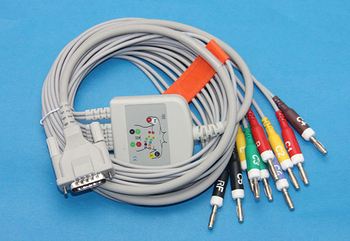 Schiller Bionet Welch Allyn Compatible Direct ECG EKG Cable 10 Leads IEC Banana 2