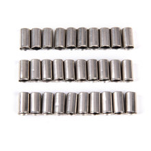 100Pcs Bike Brake Derailleur Shifter Cable End Caps Silver Metal Bicycle Part Bike Cable Caps Bicycle Accessories(China)