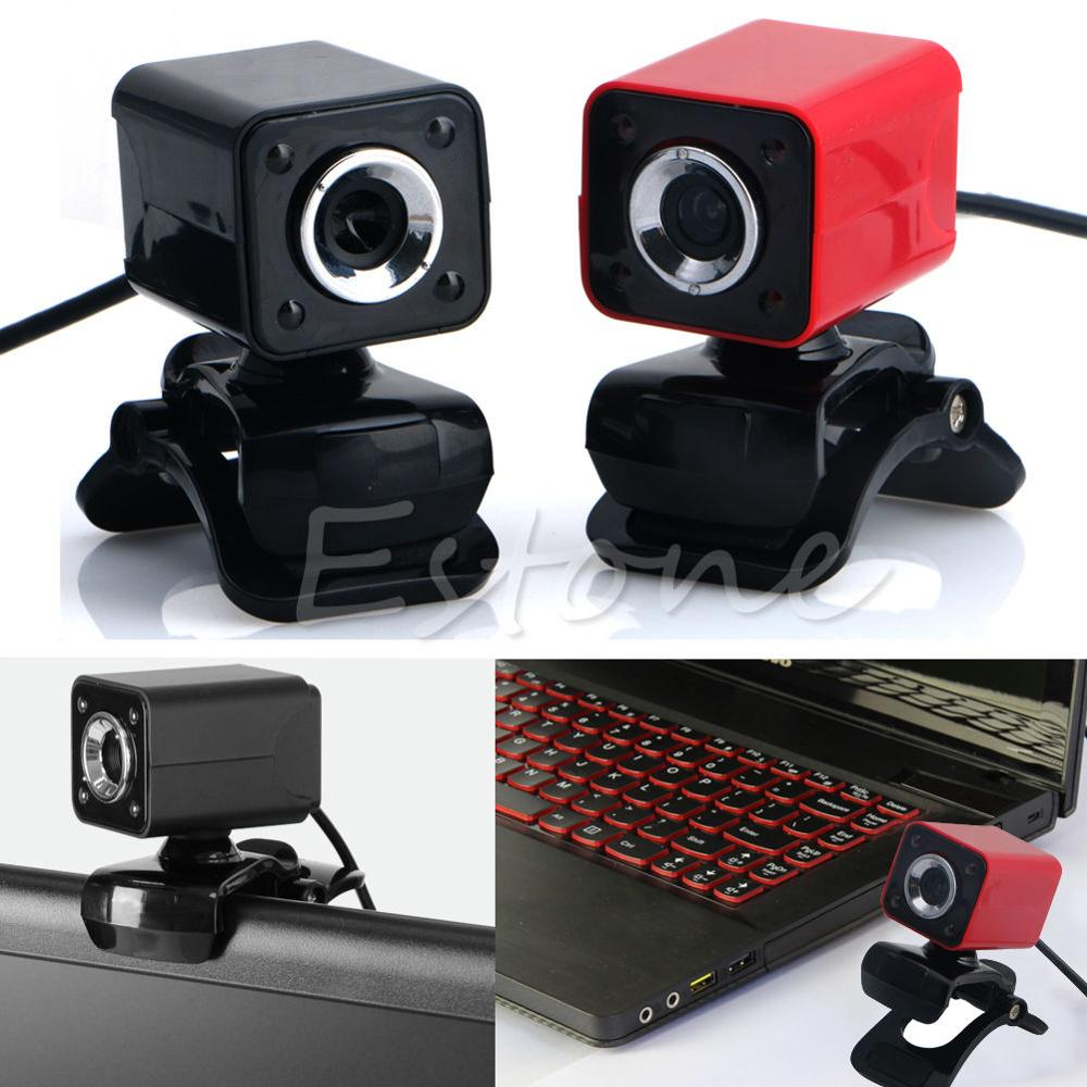 1080P 8.0MP USB 2.0 4 LED HD Webcam Web Cam Camera with MIC For Laptop Desktop Computer Brand New TOP Quality