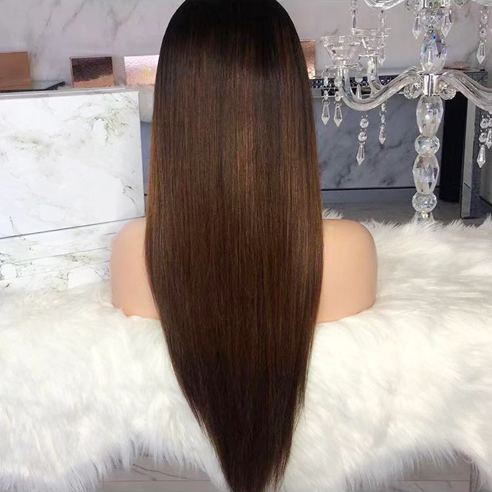 Eversilky Ombre Lace Front Human Hair Wigs With Baby Hair Brazilian Remy Hair Ombre Straight Wig Eversilky Ombre Lace Front Human Hair Wigs With Baby Hair Brazilian Remy Hair Ombre Straight Wig Pre Plucked Bleached Knots