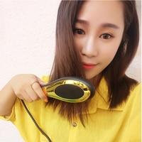 Mini LCD fast Hair Straightener brush comb electrical hair straightening tool Professional Ceramic hair iron styling chapinha