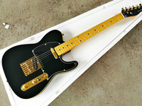 Top Quality GYTL 2032 Matte black solid body with black pickguard Gold hardware maple fretboard electric Guitar, Free shipping