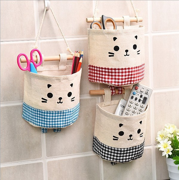 Storage Bags Creative Wardrobe Bag Wall Pouch Household Pouch Bag Home Storage Organization Organize stationery Container