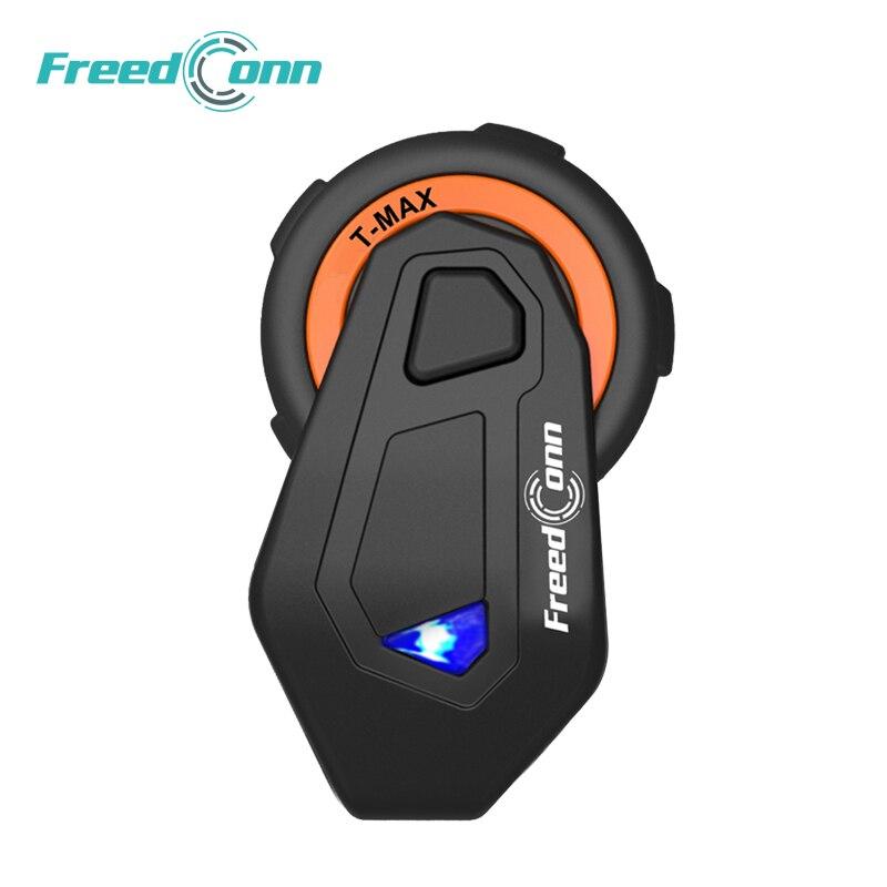 FreedConn T-MAX Motorcycle Headset 6 Riders Moto Intercomunicador Motorbike Helmet Group Intercom FM Radio Bluetooth 4.1