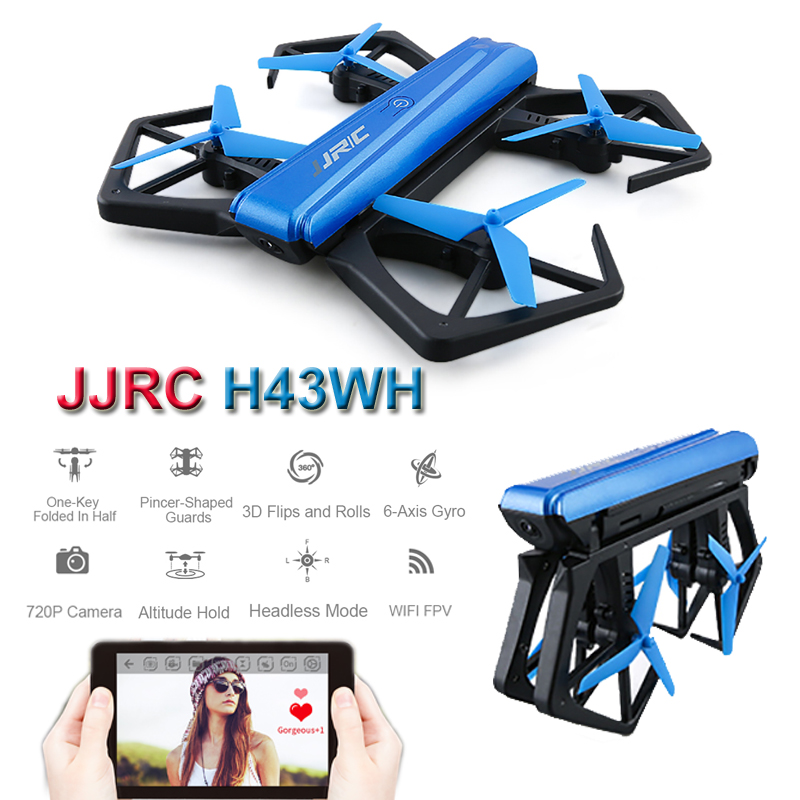 JJRC H43WH Drone With Camera HD Dron Headless Mode FPV Quadcopter WIFI Quadrocopter 2.4G 6 axis RC Helicopter Helicoptero jjrc h12c 6 axis headless mode 2 4g 4ch rc quadcopter 360 degree rollover ufo helicopter professional drone dron 5 0mp hd camera