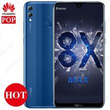 Huawei Onur 8X Max 7.12 ''Cep Telefonu Büyük Ekran Android 8.1 Smartphone 16MP Octa Çekirdek Ekran Parmak Izi KIMLIK 4900 mAh Pi...