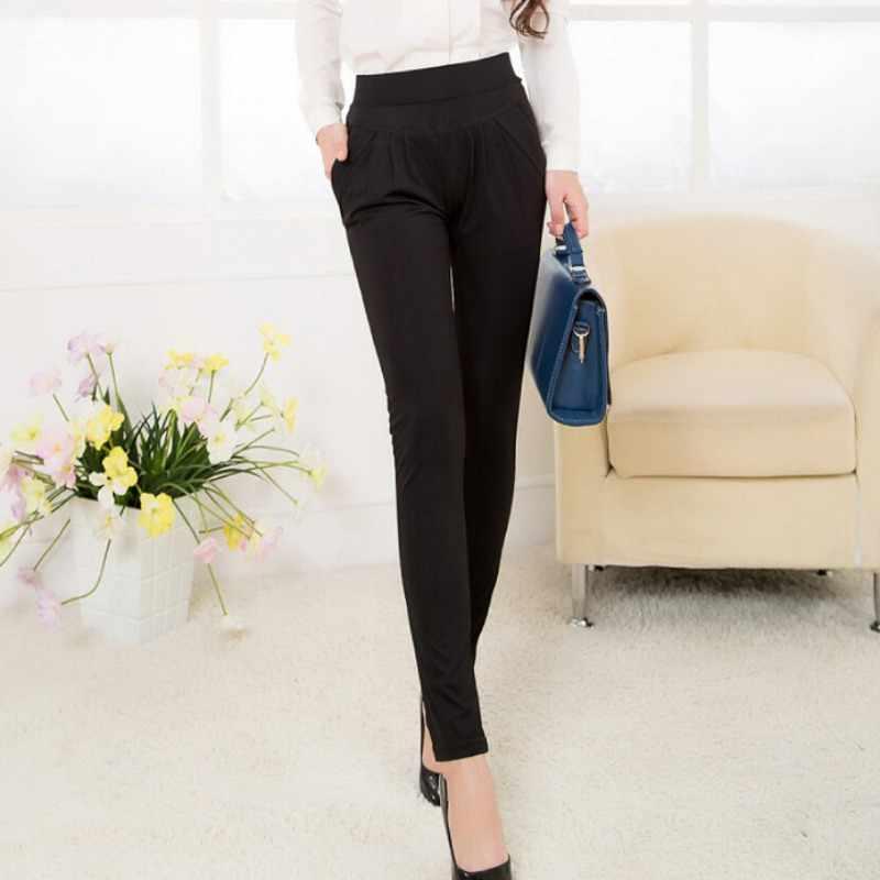 44bf9b791f Nuevo estilo de las señoras de la Oficina ropa de trabajo Pantalones negro  bolsillos cintura pierna