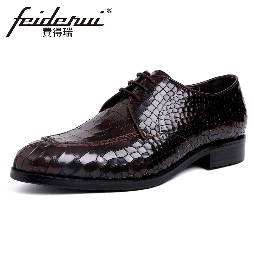 High Quality Round Toe Derby Men's Office Footwear Genuine Leather Luxury Man Handmade Formal Dress Wedding Party Shoes YMX416 цена
