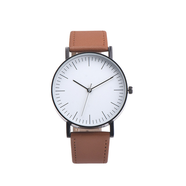 Hothot Design Retro Design Leather Band Analog Alloy Quartz Wrist Watch Business
