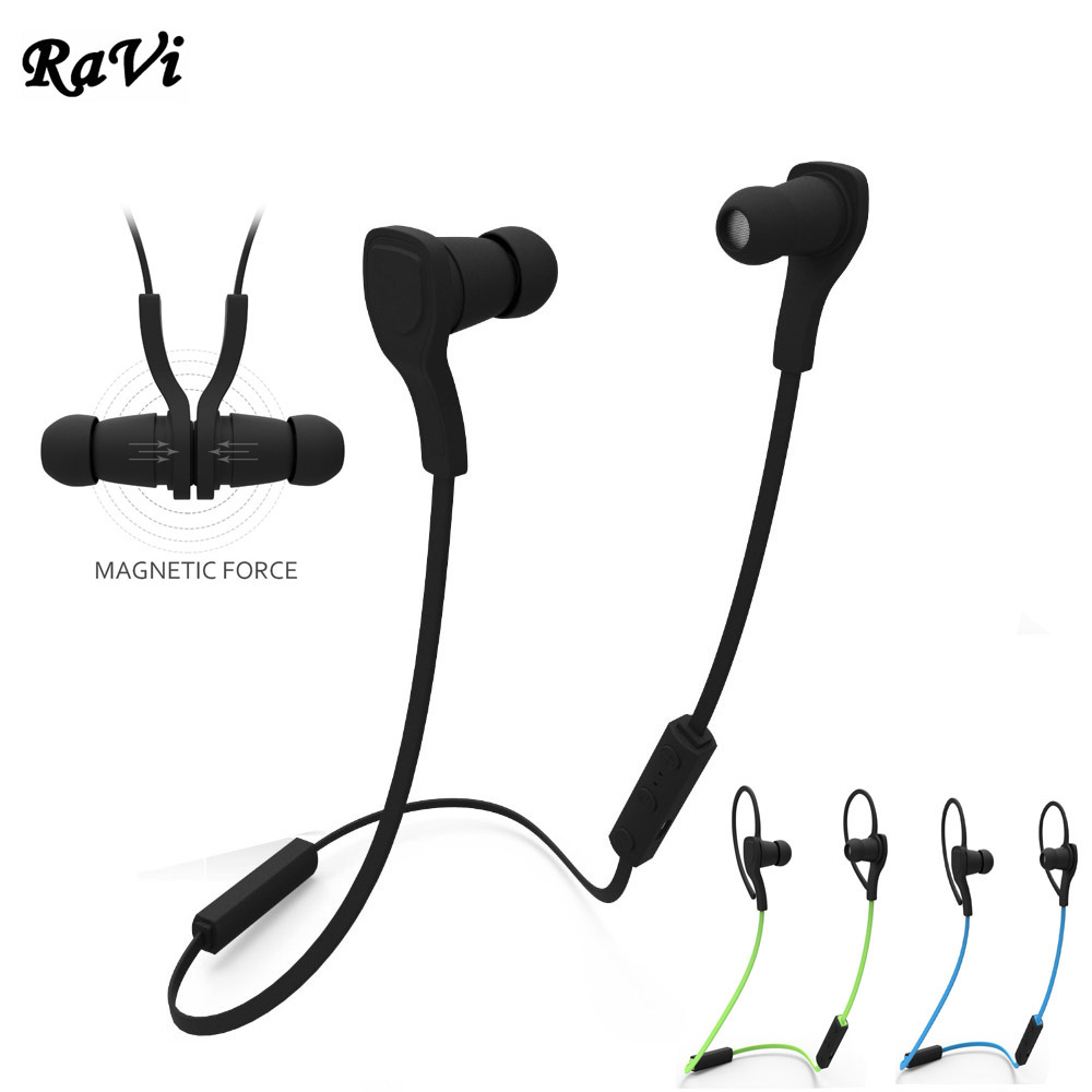 RAVI Bluetooth Earphone Sport Headphone Wireless Running Headset With Mic for iphone 5 6 7 xiaomi samsung Android fone de ouvido dacom carkit wireless bluetooth headset earphone with mic car charger for apple iphone 7 plus airpods android xiaomi samsung lg