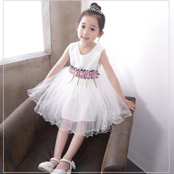 6b5c91ae2 ... de verano vestido de fiesta para niños vestido niñas vestido sin mangas  de encaje de algodón suave princesa vestidos de las muchachas de los niños  ropa ...