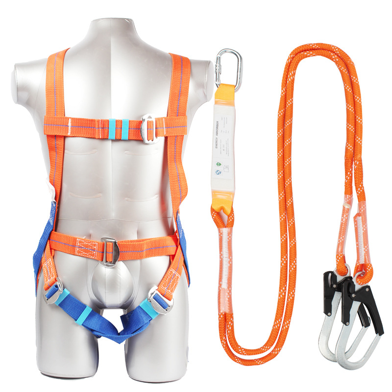 DHL Safety Harness Five-point Systemic Safety belt with Double hook High-altitude operations Fall prevention Protect equipment image