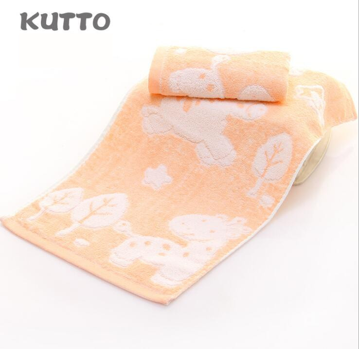 Hot Selling Kutto 25 50cm Bamboo fiber kapok blended children 39 s towel cartoon pattern soft absorbent towel face towel in Face Towels from Home amp Garden
