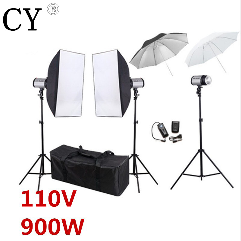 Godox 300SDI Photo Video Studio Softbox Flash Lighting Kits 900W Flash Monolight Lightbox Stand Set PSK300B1