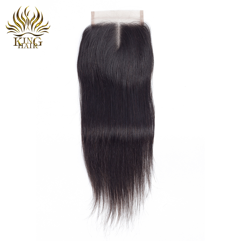 Malaysian Straight Hair 4 Bundles With Closure 5pcs/lot Remy Human Hair Bundles With 4*4 Lace Closure King Hair Weave Extensions