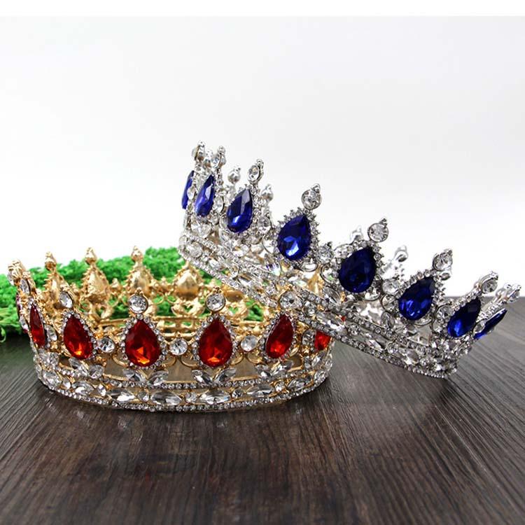 Раинья Rei cocar De Noiva тиара Coroa Para как Mulheres делать Baile de finalistas nupcial диадемы e coroas Joias Acessórios