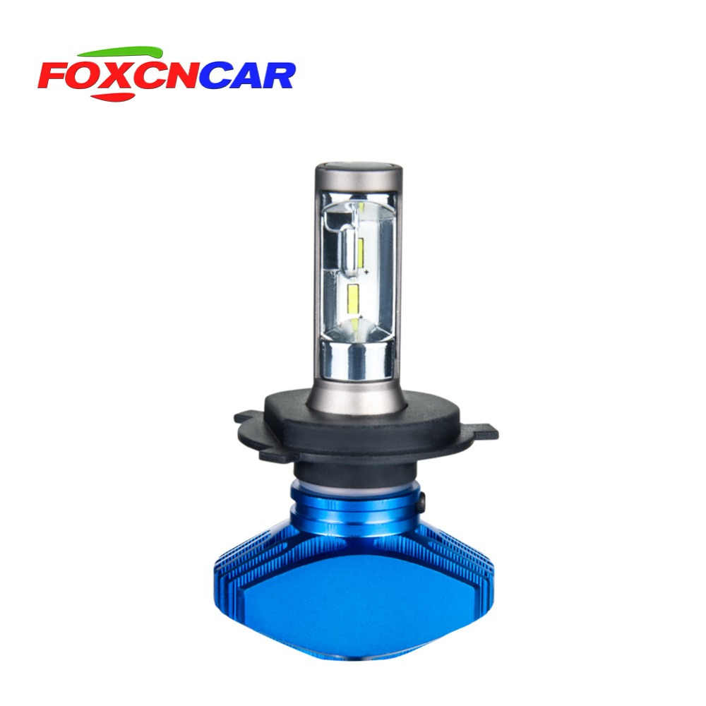 FOXCNCAR H7 H4 LED 6500K Car headlight bulb Fanless CSP 8000LM 80W 12V Cool White H1 H3 H4 H7 H8 9005 HB3 9006 HB4 Hi Lo Beam