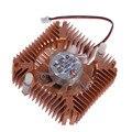 55 мм Алюминий Белоснежка Охлаждения Вентилятора Радиатора Кулер для PC Компьютер CPU VGA Видео Карты Бесплатная Доставка