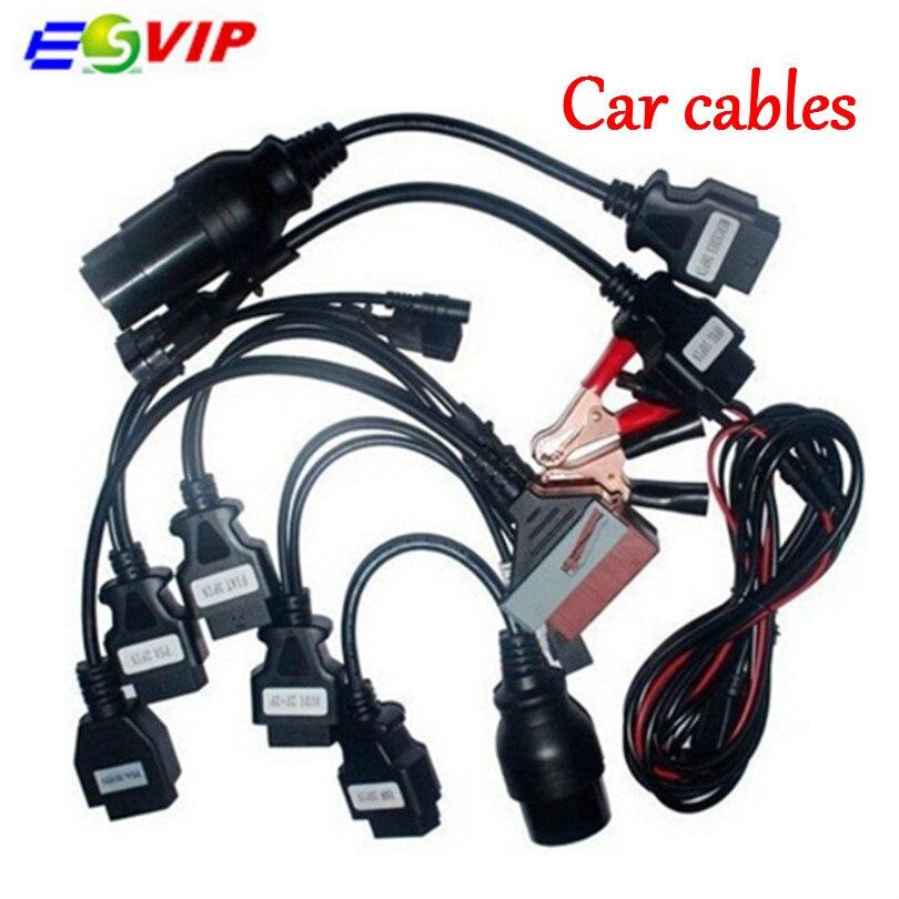 Qualité A + cdp câbles OBD OBD2 ensemble complet 8 câbles de voiture Outil de diagnostic pour cdp Pro pour voitures et camions voiture de diagnostic câble