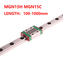CNC Parts MGN15 350 400 450 500 800 900 1000mm Miniature Linear Rail Slide 1pc MGN Linear Guide +1pc MGN15H or MGN15C Carriage(China)