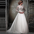 Sexy Lace A-line Wedding Dresses 2017 Lace Wedding Gowns Romantic Plus Size Vintage Cheap vestido de noiva 2017
